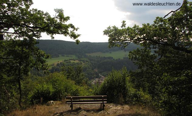 Blick auf Altenbrak vom Aussichtspunkt Böser Kleef