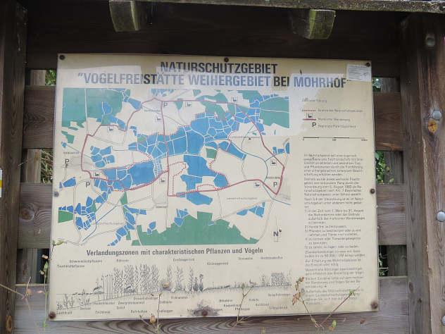 Übersicht über Wege im Moorhof-Weihergebiet